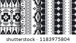 ethnic seamless patterns.... | Shutterstock .eps vector #1183975804