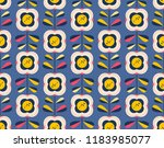 seamless retro pattern with... | Shutterstock .eps vector #1183985077