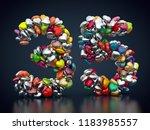 3d rendering  number 35 made... | Shutterstock . vector #1183985557