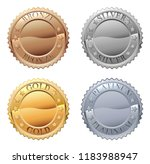 a medals icon set with platinum ... | Shutterstock . vector #1183988947