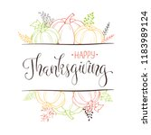 happy thanksgiving greeting... | Shutterstock .eps vector #1183989124
