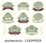 set quality labels for natural... | Shutterstock . vector #118399039