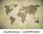grunge map of the world | Shutterstock . vector #1183991464