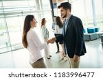 business people shaking hands ... | Shutterstock . vector #1183996477