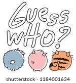 guess who  hand drawn text for... | Shutterstock .eps vector #1184001634
