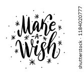 make a wish. text vector... | Shutterstock .eps vector #1184020777