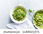 home made fusilli pasta with... | Shutterstock . vector #1184021071