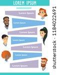 vector medicine brochure cards .... | Shutterstock .eps vector #1184022691