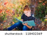 beautiful redheaded girl with... | Shutterstock . vector #118402369
