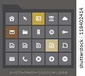 modern web icons for mobile...