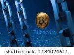 golden bitcoin digital currency ... | Shutterstock . vector #1184024611