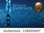 golden bitcoin digital currency ... | Shutterstock . vector #1184024647