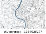 bangkok map  satellite view ... | Shutterstock .eps vector #1184025277