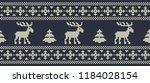 christmas background. knitted... | Shutterstock .eps vector #1184028154