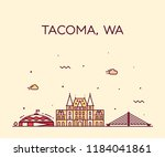 Tacoma Skyline  Washington  Us...