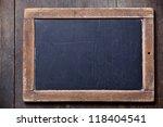 vintage slate chalk board on... | Shutterstock . vector #118404541