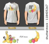 many children between fruits... | Shutterstock .eps vector #118405267