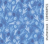 christmas seamless pattern with ... | Shutterstock .eps vector #1184068921