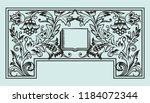 book frontispiece title page... | Shutterstock .eps vector #1184072344