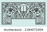 book frontispiece title page... | Shutterstock .eps vector #1184072404
