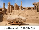 Ancient Ruins In The Temple Of...
