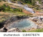 geothermal activity  hot... | Shutterstock . vector #1184078374