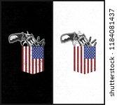 illustraion gun in a pocket  us ...   Shutterstock .eps vector #1184081437
