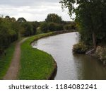 grand union canal man made... | Shutterstock . vector #1184082241