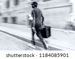 delivery goods  by hand ... | Shutterstock . vector #1184085901