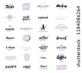 collection of logos and... | Shutterstock .eps vector #1184086264