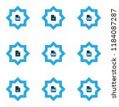 types icons colored set with...   Shutterstock .eps vector #1184087287