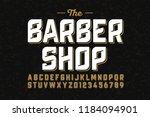 vintage style font design ... | Shutterstock .eps vector #1184094901