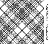 black and white check plaid... | Shutterstock .eps vector #1184095597