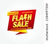 flash sale banner design... | Shutterstock .eps vector #1184097334