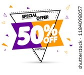 sale tag 50  off  promotion... | Shutterstock .eps vector #1184098057