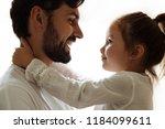 parenthood. family. love. dad...   Shutterstock . vector #1184099611