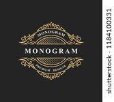 simple monogram design. luxury... | Shutterstock .eps vector #1184100331