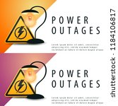 power outages. banner with... | Shutterstock .eps vector #1184106817