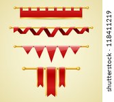 vector banners and ribbons | Shutterstock .eps vector #118411219