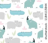 kids seamless pattern with... | Shutterstock .eps vector #1184115844