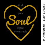 love your mind fine your soul... | Shutterstock .eps vector #1184124367