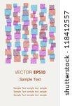 template for design invitation  ... | Shutterstock .eps vector #118412557