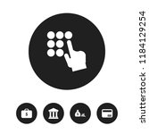 set of 5 editable finance icons....