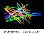 colorful fluorescent light neon ... | Shutterstock . vector #1184130154