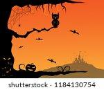 halloween background made for... | Shutterstock . vector #1184130754