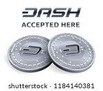 dash. accepted sign emblem.... | Shutterstock .eps vector #1184140381