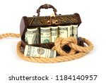 vintage wooden box full of... | Shutterstock . vector #1184140957