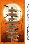 halloween design. halloween...   Shutterstock .eps vector #1184146747