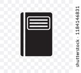 diary vector icon isolated on... | Shutterstock .eps vector #1184146831