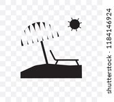 sunbed vector icon isolated on... | Shutterstock .eps vector #1184146924